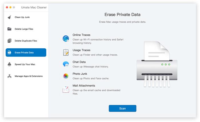 erase private data umate