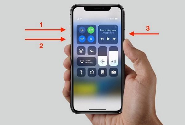 restart iphone x