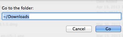 go menu delete downloads