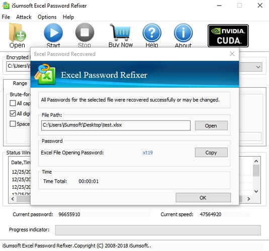 isumsoft excel password refixer