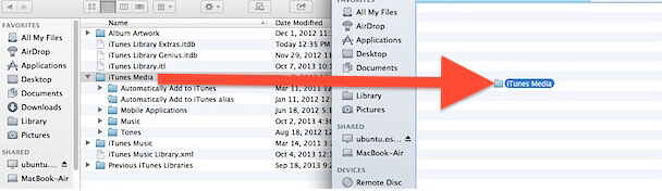 move files to external drive