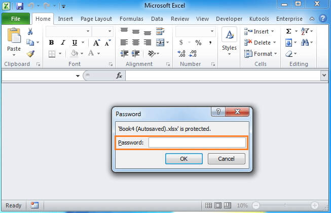 open password protected excel without password