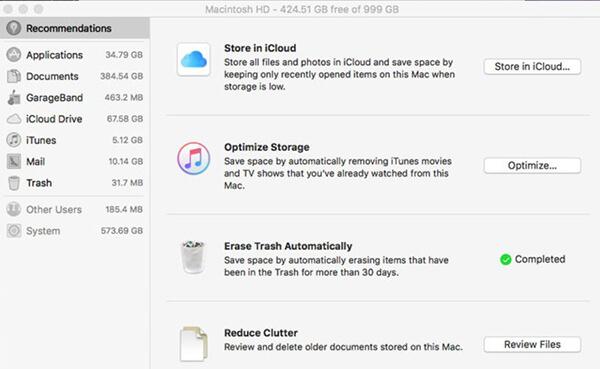 optimize storage on mac
