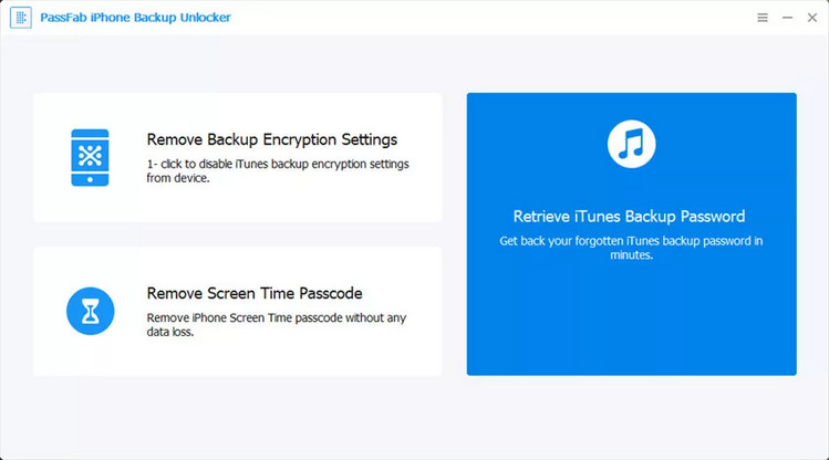 PassFab iPhone Backup Unlock Software