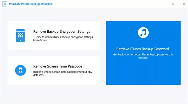PassFab iPhone Backup Unlock Software