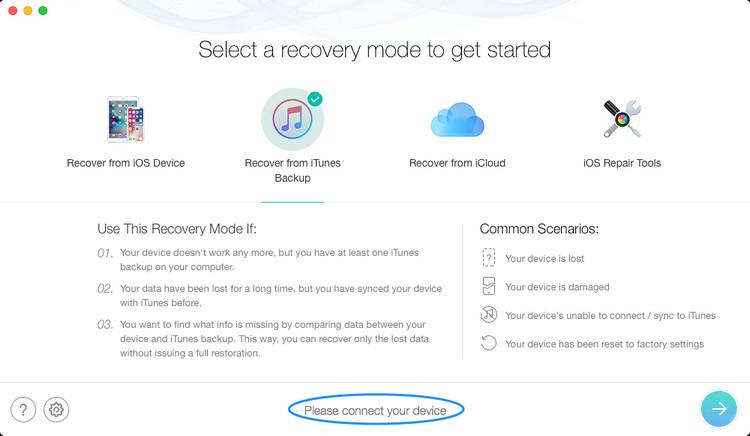 PhoneRescue iPhone backup password recovery