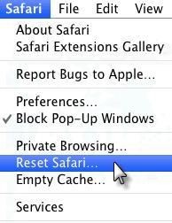 reset safari mac