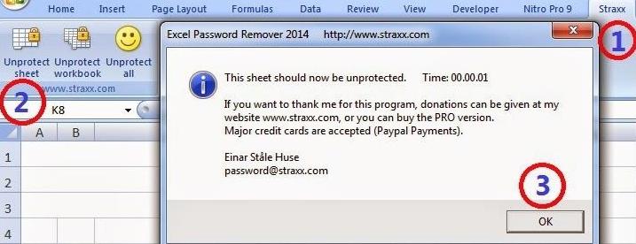 straxx excel password remover