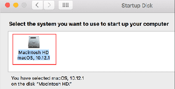 what is startup disk on mac