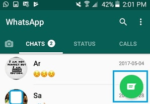 whatsapp not recognizing contacts