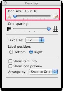 adjust icon size