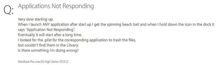 apps not responding on mac
