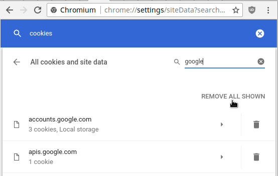 check chrome cookies