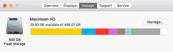 check free hard drive space