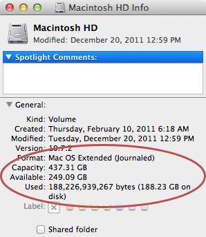 check storage on mac os 10.6