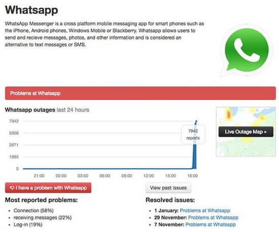 check whatsapp web server