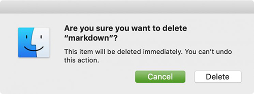 delete file keyboard shortcut