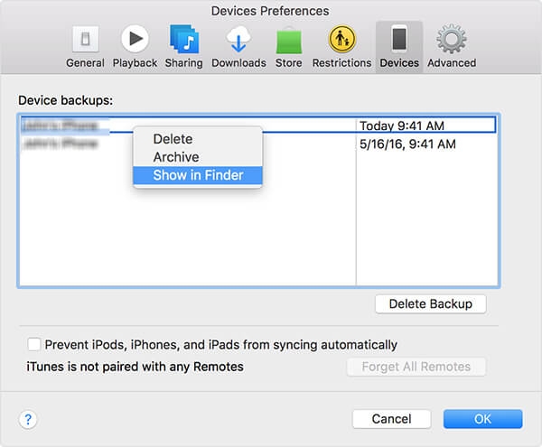 delete ios device backups on mac