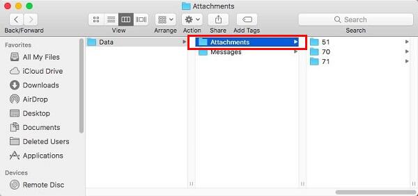 delete mail attachments on mac