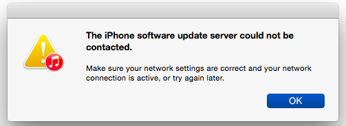 iphone software update server can't be contacted