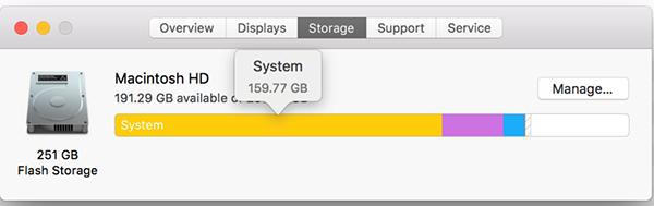 mac system storage