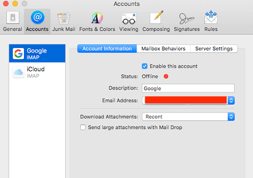 manage mail attachments mac