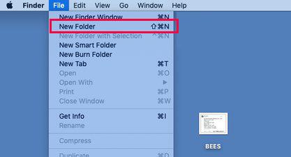 new folder on mac
