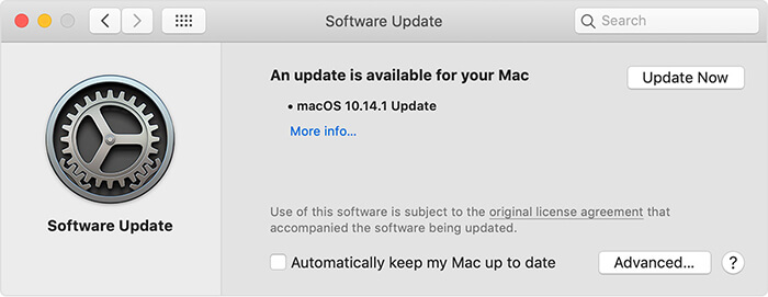 operating system update mac