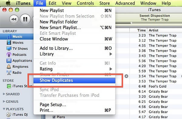 remove duplicate on itunes