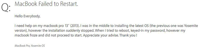unable to restart mac