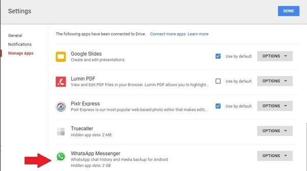 whatsapp備份到Google雲端硬碟