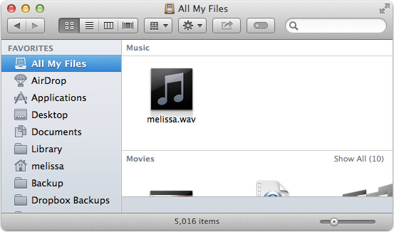 all my files on mac