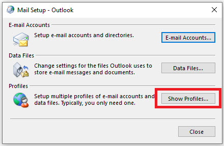 outlook folder size