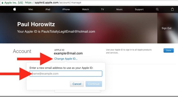 change-apple-id-email-address