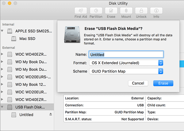 erase hard drive on mac