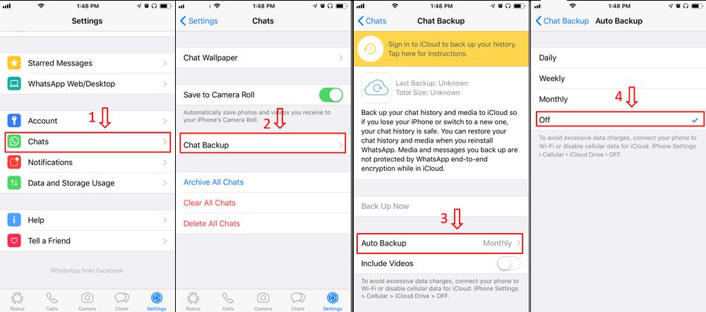 stop whatsapp auto backup 1