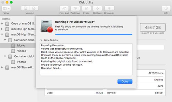 repair disk on mac
