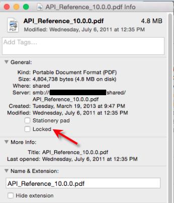 unlock files on mac
