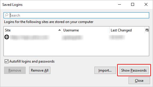 view firefox passwords on mac