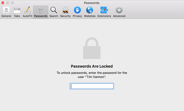 view safari passwords on mac