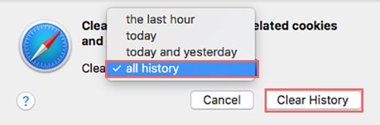 delete download history on safari