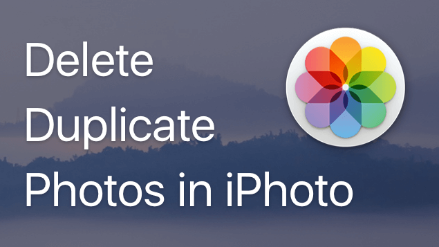 delete duplicates iphoto