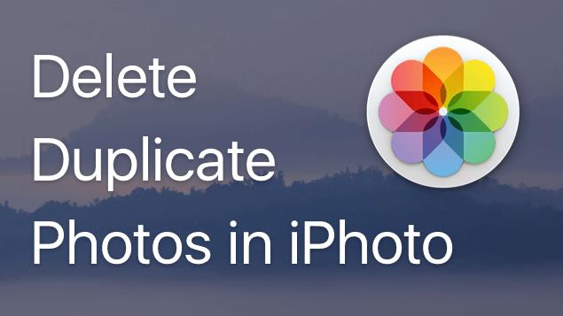 delete duplicate photos on mac