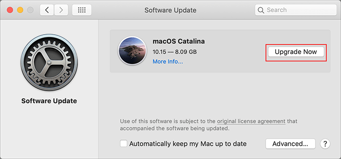 macos catalina software update