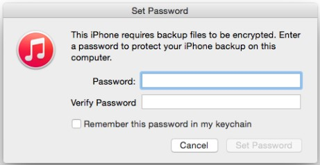 require backup be encrypted