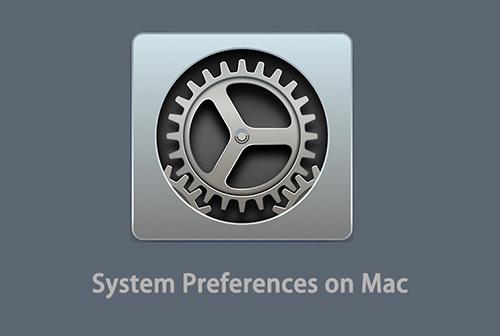 system preference on mac