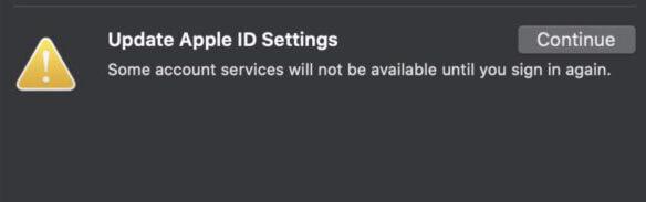 update apple id settings macos catalina