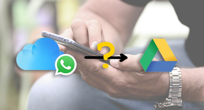 change whatsapp backup location from icloud to google drive