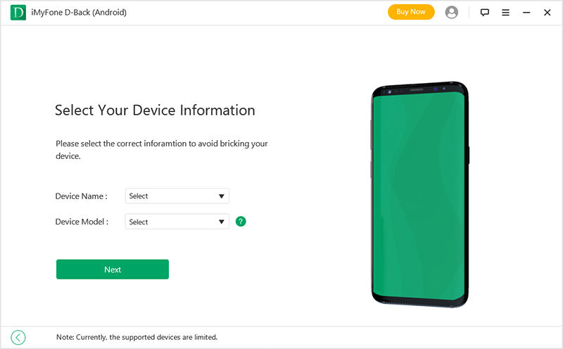 select your device model