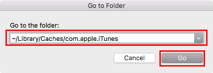 delete itunes cache on mac manually